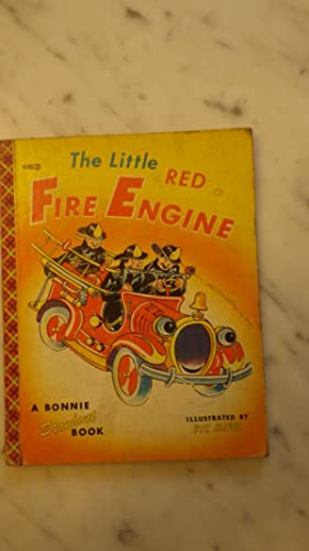 The Little Red Fire Engine, 3 firemen: Color Illustrated Vic