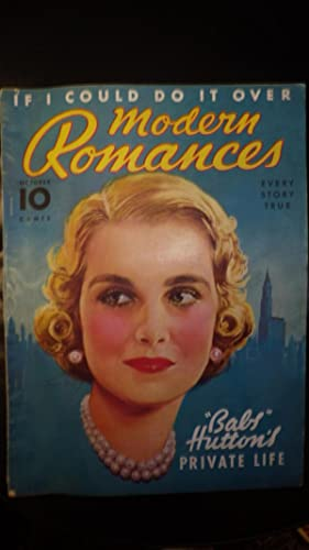 RARE Modern Romances October 1938 MAGAZINE, Lovely: Frontispiece Dionne Quintuplets