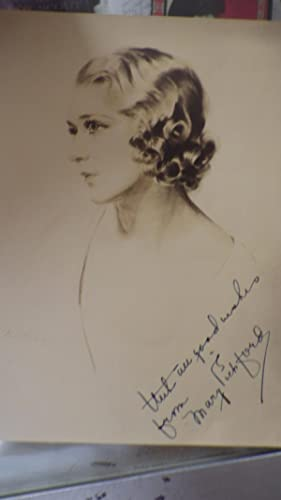 B/W SEPIA Signed Photograph Lovely Young Hollywood: Mary Pickford SIGNED
