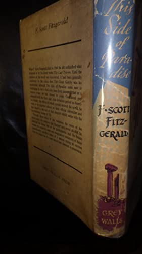 This side of Paradise, Authors 1st Novel,: F. Scott Fitzgerald,