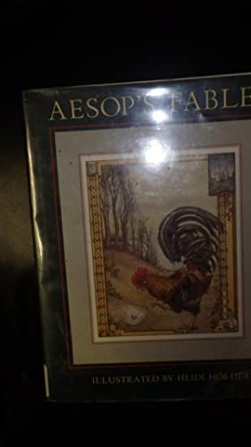 AESOP'S Fables in Color Dustjacket with Rooster: Aesop ,Color Illustrated