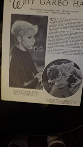GRETA GARBO SIGNED AUTOGRAPH PAGE from Magazine, Hand SIGNED in Black By Reclusive Hollywood ...