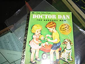 Doctor Dan The Bandage Man ( Little Golden Book # 312-27. ) WITH 2 Real Johnson & Johnson ...