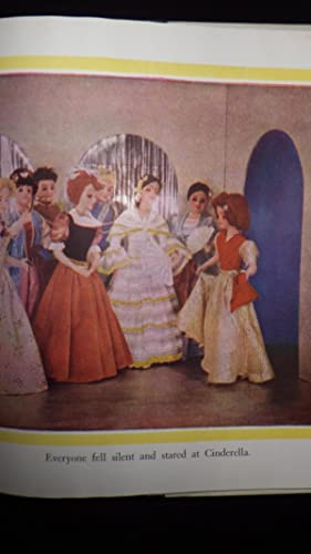 CINDERELLA ,A Lothrop Color Storybook, in Blue Color Dustjacket of Girl walking down steps of ...