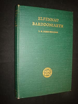 Elfennau Barddoniaeth by T.H. Parry Williams: T.H. Parry Williams