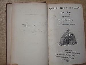 Quinti Horatii Flacci Opera by J. C.: J. C. Zeunii