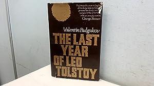 Last Year of Leo Tolstoy: Bulgakov, Valentine