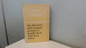 Directors and Company Secretarys Handbook of Draft: Mitchell, Ewan
