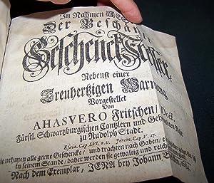Der Beschämte Geschenck-Fresser, nebenst einer treuhertzigen Warnung: Fritschio, (Fritschen) Ahasvero