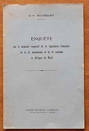 1935 - Enquête Législation française / Loi: G.-H. Bousquet