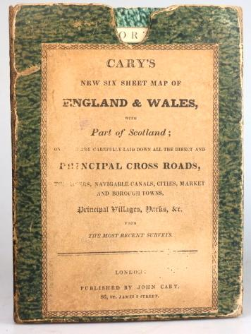 Road Map Of England And Wales With Towns.Cary S Six Sheet Map Of England And Wales