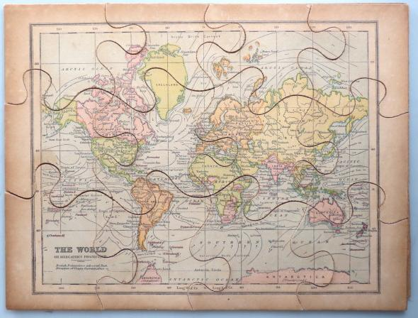 Jigsaw Map of] The World by BACON, G.W., & Co. (Publisher): [London ...
