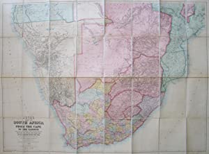 Juta's Map of South Africa from the Cape to the Zambesi. Complied from the Best Available Colonia...