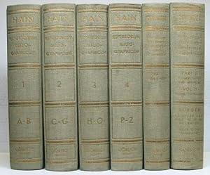 Repertorium Bibliographicum, in quo libri omnes ab: HAIN, Ludovici &
