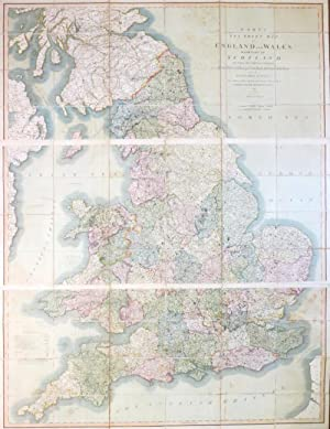 Cary's Six Sheet Map of England and Wales, with Part of Scotland: on which are Carefully Laid Dow...