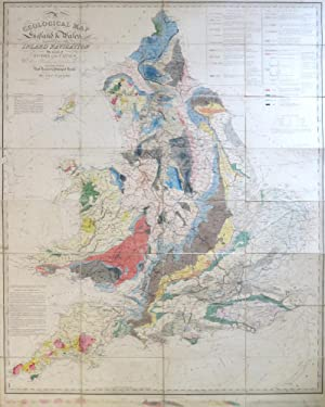 A Geological Map of England & Wales, Showing also the Inland Navigation by Means of Rivers and Ca...