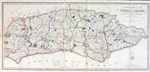 A Topographical Map of the County of Sussex; Reduced from the Large Survey in Four Sheets by.