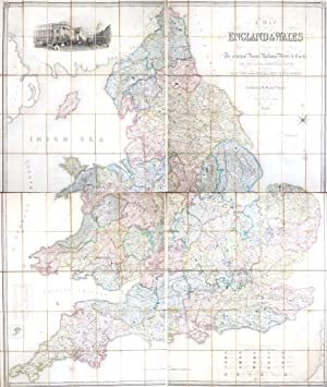 A Map of England & Wales Divided into Counties, Parliamentary Divisions & Dioceses Shewing The Pr...