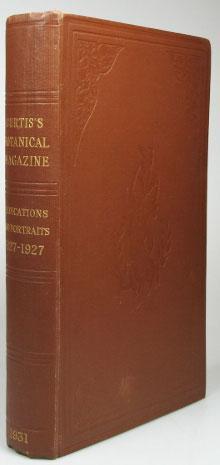 Curtis's Botanical Magazine Dedications, 1827-1927. Portraits and: CURTIS). NELMES, Ernest