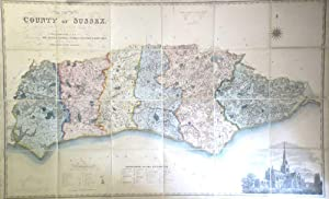 Map of the County of Sussex from an Actual Survey Made in the Years 1823 & 1824 Corrected to the ...