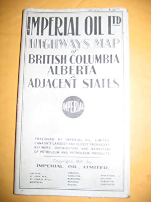 Imperial Oil Ltd Highways Map of British: Imperial Oil, Limited