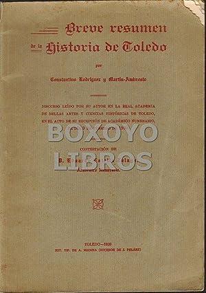 Breve resumen de la Historia de Toledo.: RODRÍGUEZ Y MARTÍN-AMBROSIO,
