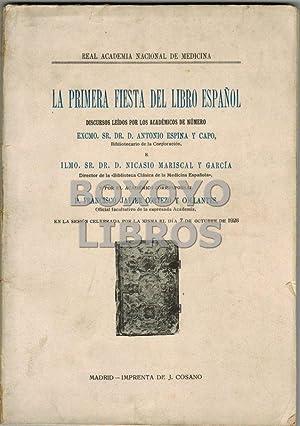 La primera fiesta del libro español. Discursos: ESPINA Y CAPO
