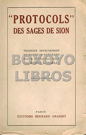 Protocols des sages de Sion. Traduits directement: LAMBELIN, Roger [Introduction]