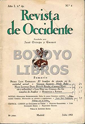 Revista de Occidente. Segunda época. Año I. Nº4