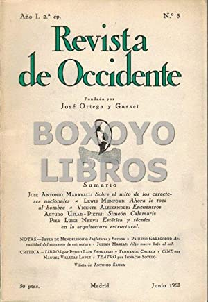 Revista de Occidente. Segunda época. Año I. Nº 3