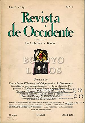 Revista de Occidente. Segunda época. Año I. Nº 1