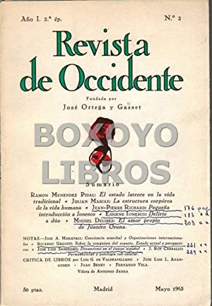 Revista de Occidente. Segunda época. Año I. Nº 2