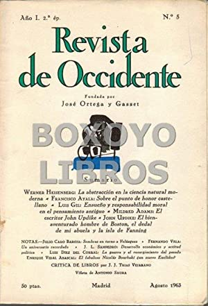 Revista de Occidente. Segunda época. Año I. Nº 5