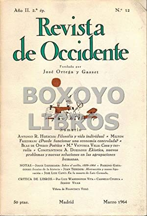 Revista de Occidente. Segunda época. Año I. Nº 12