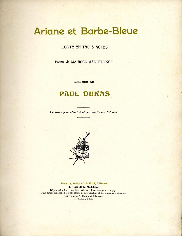 Ariane Et Barbe Bleue