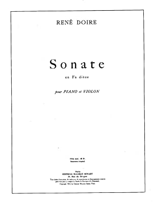 SONATE POUR PIANO & VIOLON.