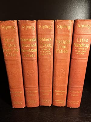 Set of Five Books: Plain Tales from: Rudyard Kipling