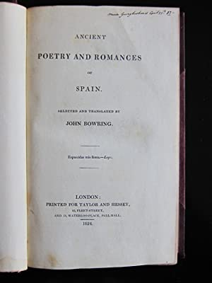 Poetry and Romances of Spain: Bowring, John