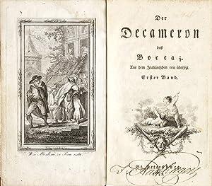 Der Decameron des Boccaz. Aus dem Italiänischen: Boccaccio, Giovanni.