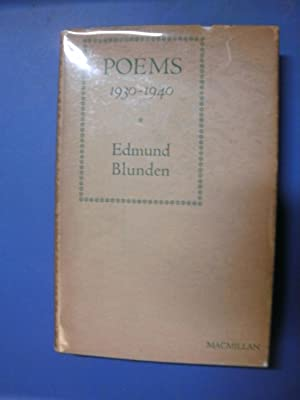 Poems 1930-1940: Blunden, Edmund