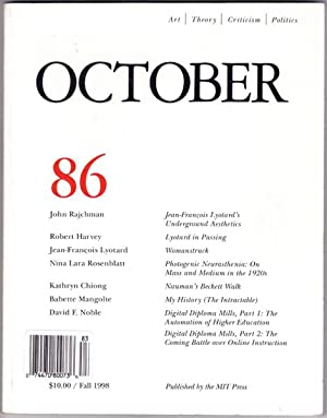 OCTOBER 86: Art/Theory/Criticism/Politics