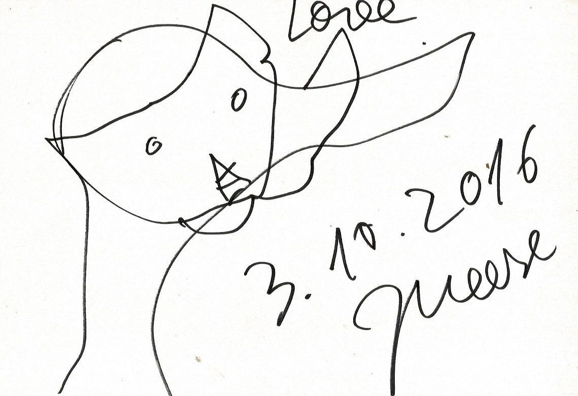 Meese, Jonathan - Autograph: Jonathan Meese (German