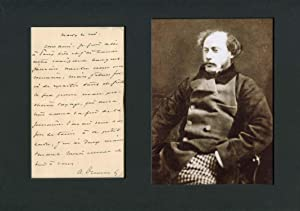 Dumas, Alexandre - Autograph: Alexandre Dumas (fils)