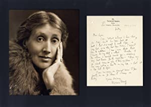 Woolf, Virginia - Autograph