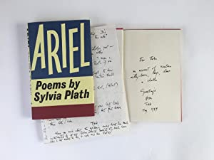 Ariel [Inscribed copy with Ted Hughes letter]: Sylvia Plath [inscribed