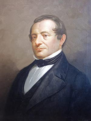 A handsome oil portrait, signed by the artist, of Washington Irving
