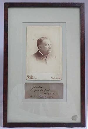 Original photographic portrait of Howells, 6.5 x 4.25 inches, framed with an inscription on a sep...