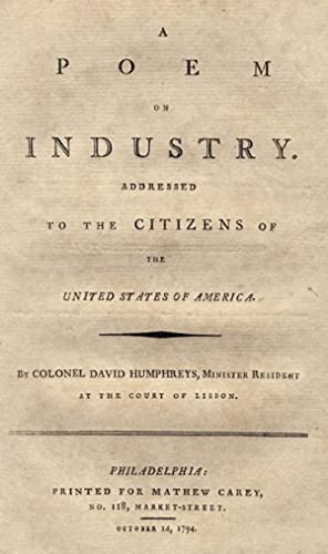 A Poem on Industry. Addressed to the Citizens of the United States of America