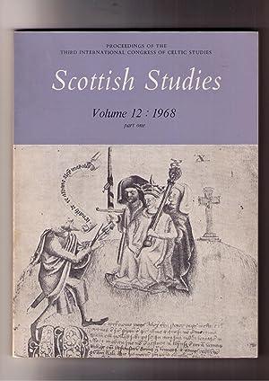 Proceedings of the Third International Congress of: Nicholaisen, W. F.