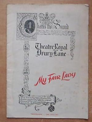 My Fair Lady - Theatre Programme - Theatre Royal, Drury Lane: Lerner, Alan J.
